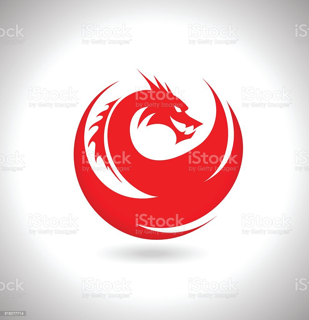 Red Dragon Vector Illustration vector art illustration