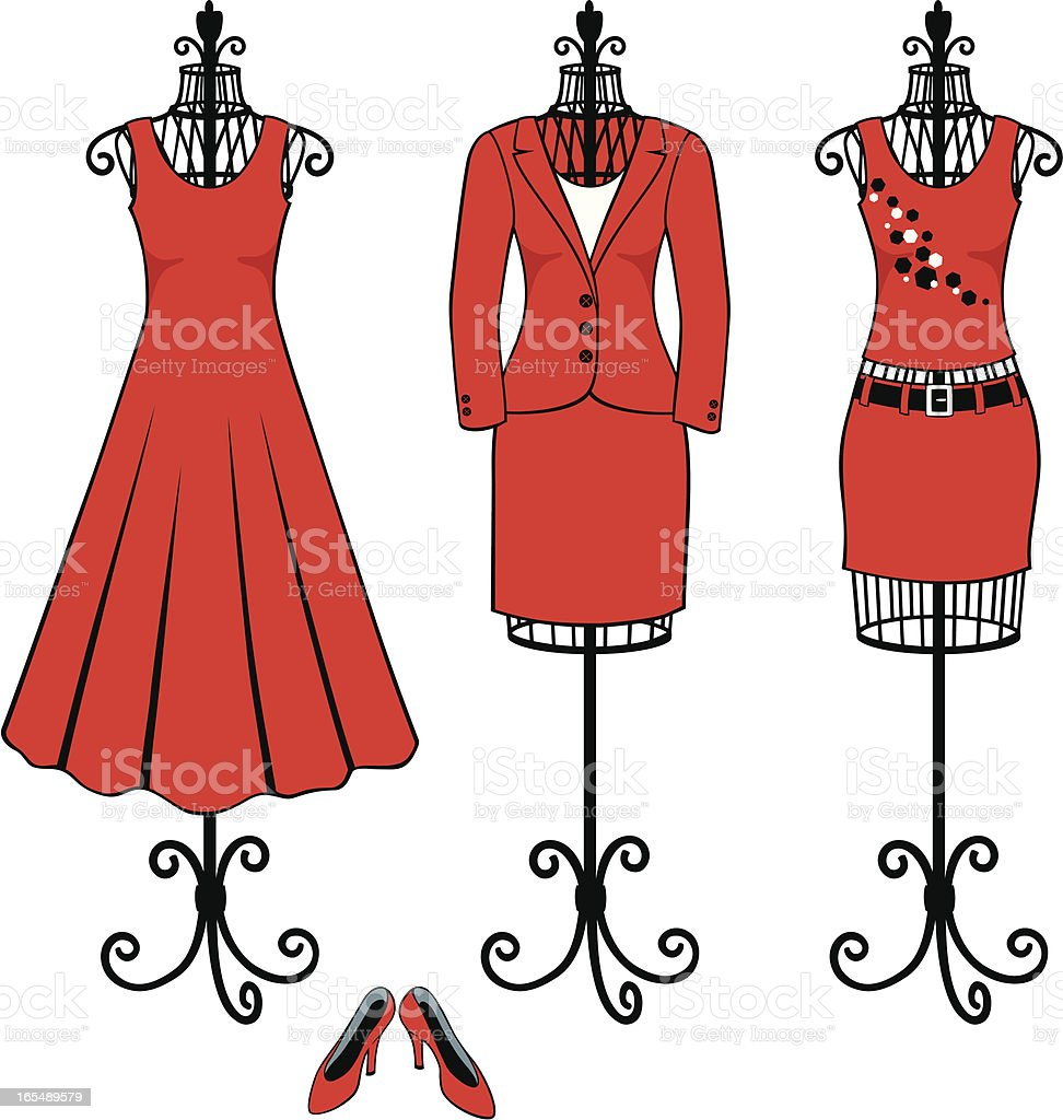 Red Dress Fashion for Work, Play and an Evening Out royalty-free red dress fashion for work play and an evening out stock vector art & more images of adult