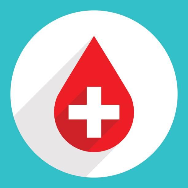 Rote Tropfen-Symbol-erste-Hilfe spenden Blut Zeichen – Vektorgrafik
