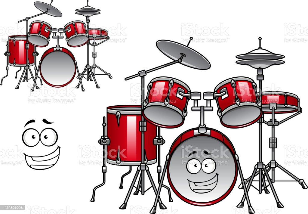 Red Drum Kit Comicfigur Stock Vektor Art und mehr Bilder von 2015 ...
