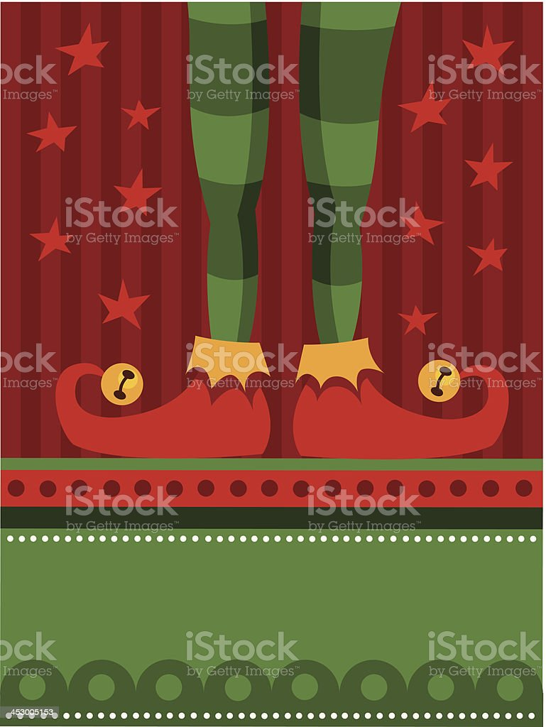 Red elf feet royalty-free red elf feet stock vector art & more images of christmas