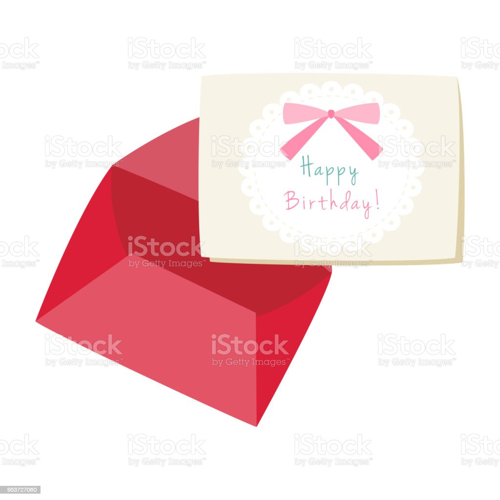 red envelope with birthday greeting card stock vector art more