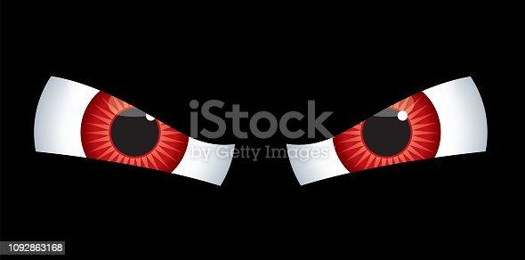 istock Red Evil Eyes 1092863168