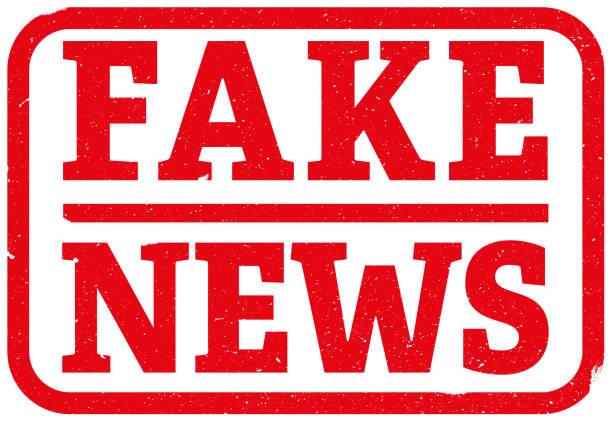 red fake news rubber stamp red fake news rubber stamp vector illustration artificial stock illustrations