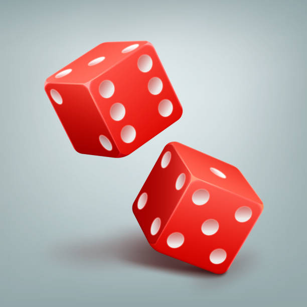 red falling dice - dice stock illustrations, clip art, cartoons, & icons