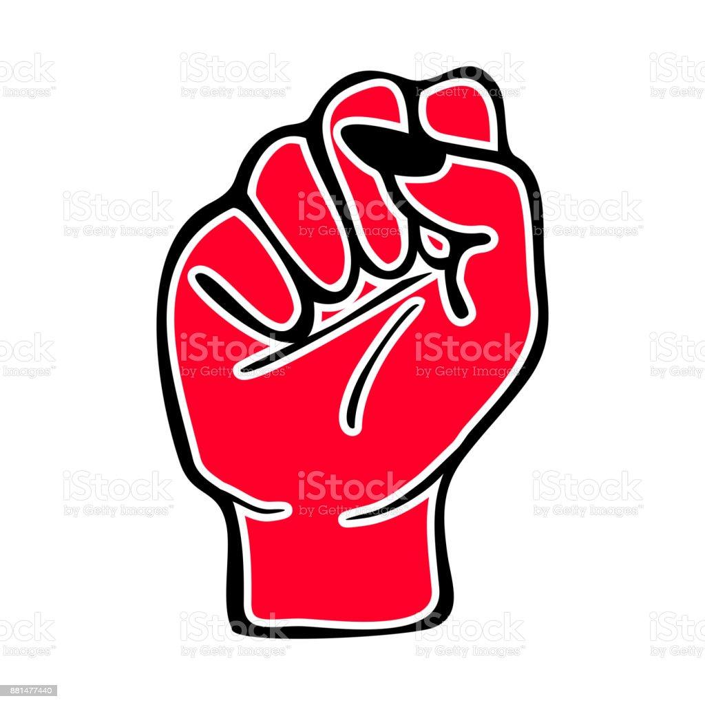 Red Female Fist Feminism Womens Rights Lgbtq Power Womens Issues Etc