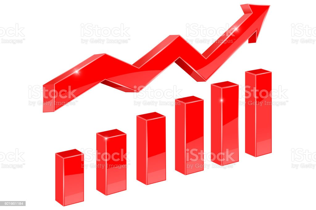 Rote Kurve finanzielle – Vektorgrafik