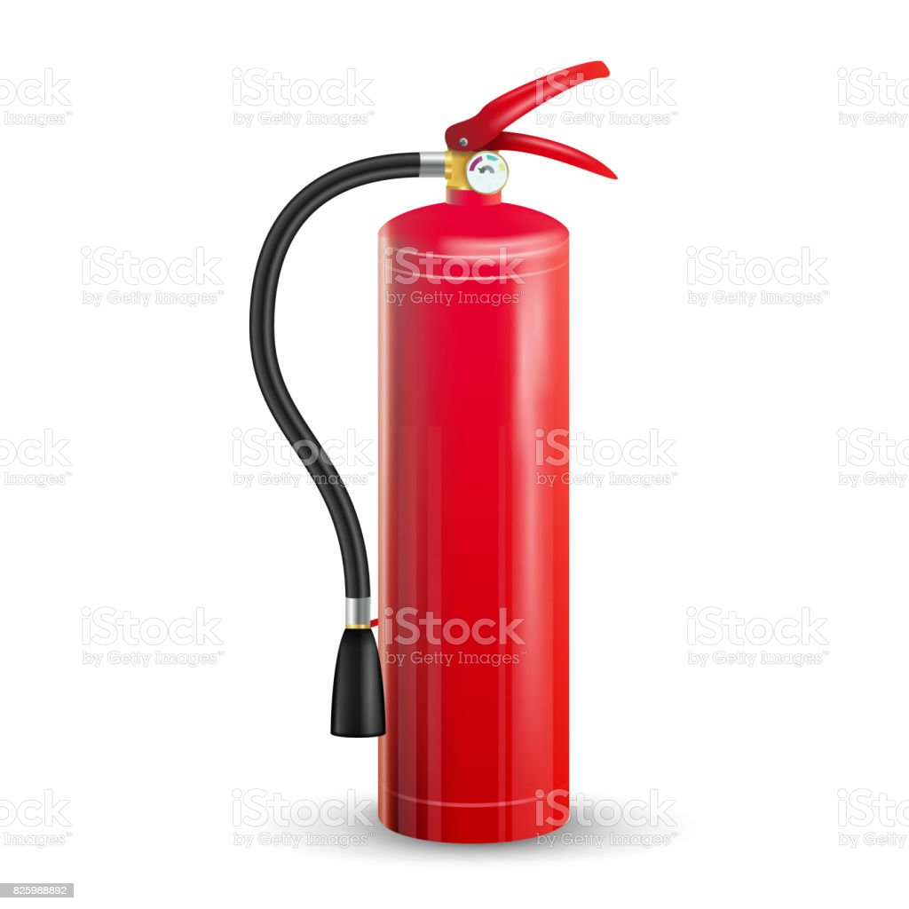 Red Fire Extinguisher Vector. Isolated Illustration vector art illustration