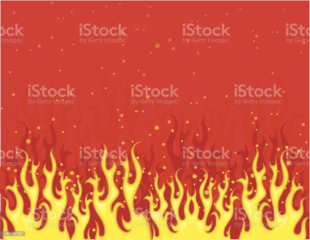 Red fire royalty-free stock vector art