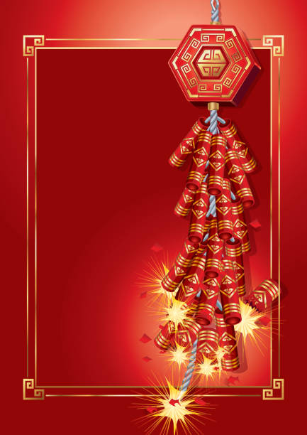 Royalty Free Chinese Firecrackers Clip Art, Vector Images ...