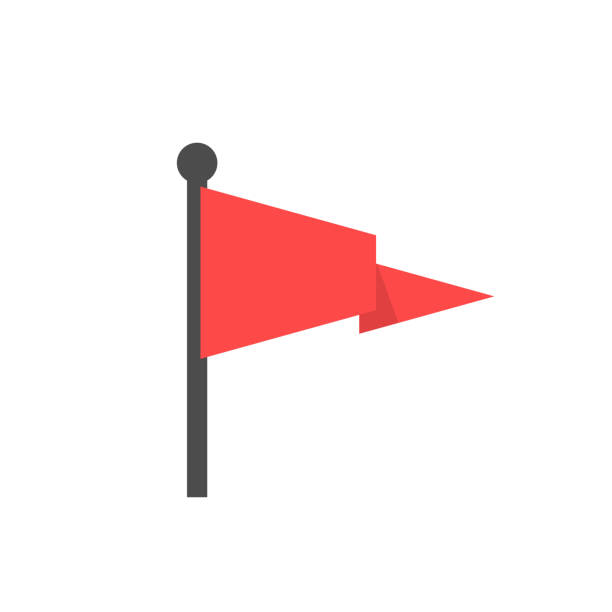 Red flag icon Red flag icon. Location marker symbol, Vector illustration red stock illustrations
