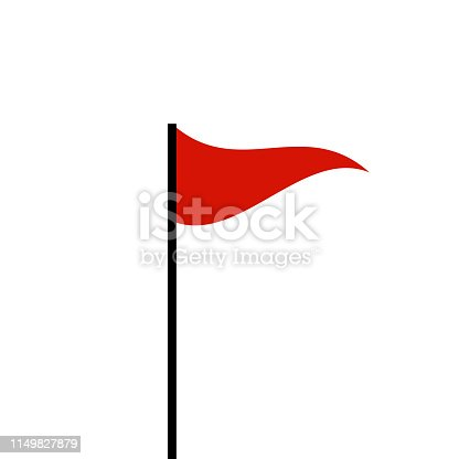 Red flag marker icon symbol. Vector eps10