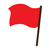 Red flag vector object icon