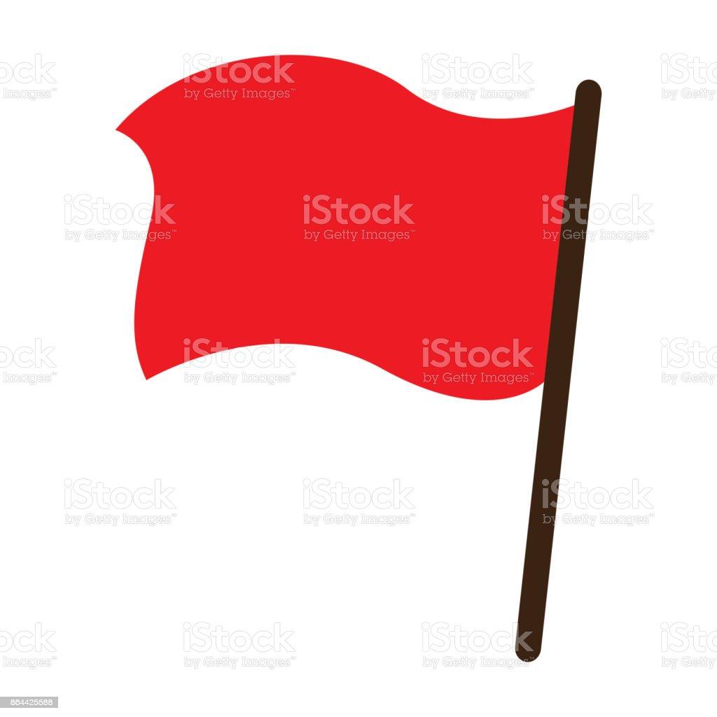royalty free red flag warning clip art vector images rh istockphoto com flag vector free flag vector artwork