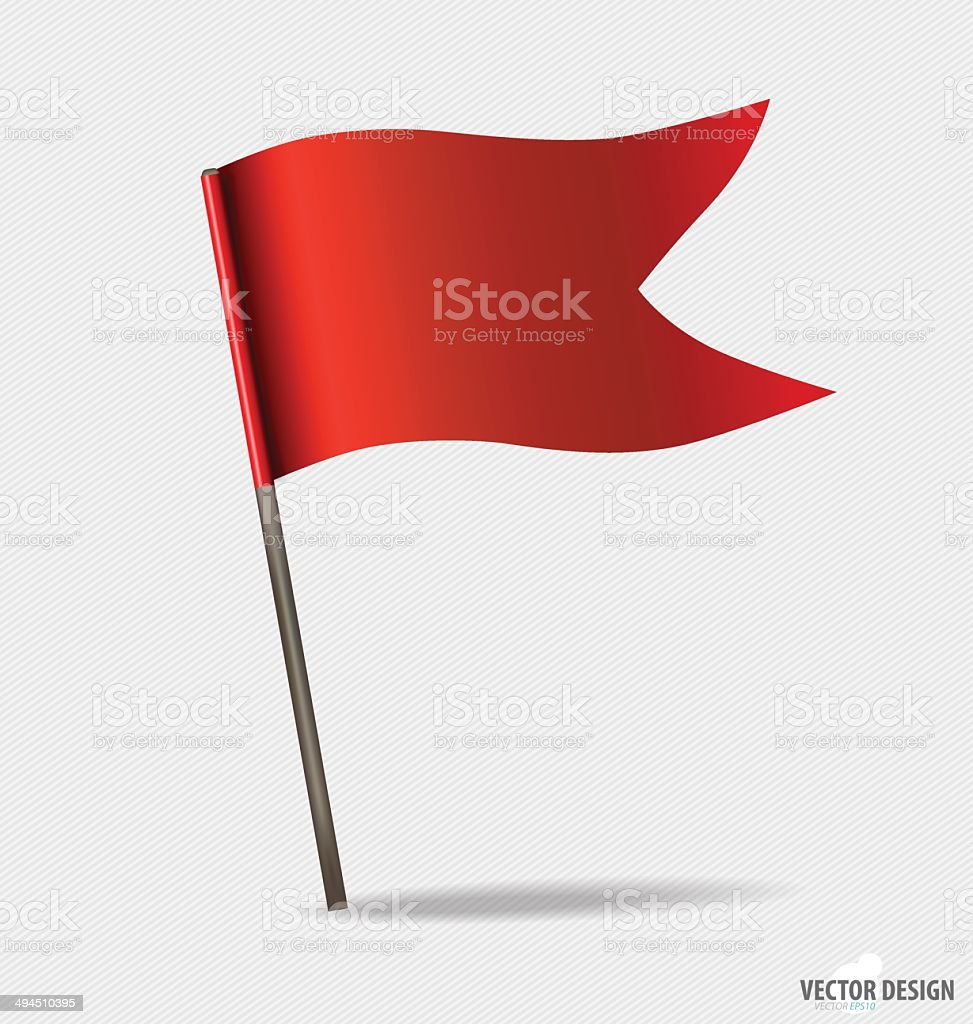 Red Flags. Vector illustration. royalty-free red flags vector illustration stock vector art & more images of abstract