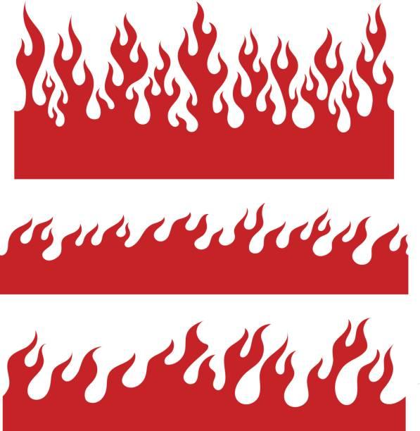 無限の境界線の赤い炎の要素 - 炎のタトゥー点のイラスト素材/クリップアート素材/マンガ素材/アイコン素材