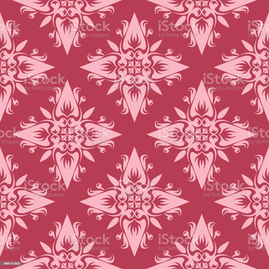 Röd blommig sömlös bakgrund. Dekorativa mönster - Royaltyfri Abstrakt vektorgrafik