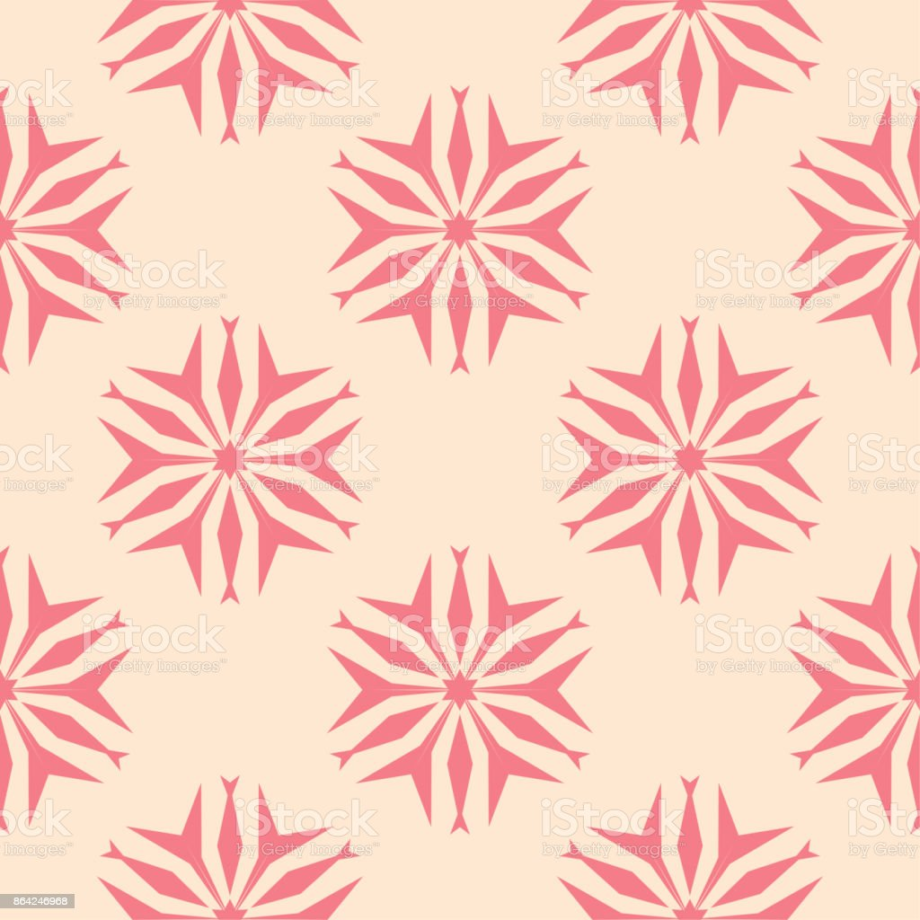 Red floral seamless pattern on beige background royalty-free red floral seamless pattern on beige background stock vector art & more images of abstract