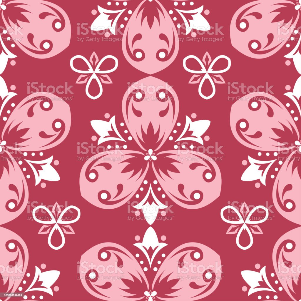 Red floral seamless pattern. Pale red and beige colored background royalty-free red floral seamless pattern pale red and beige colored background stock vector art & more images of abstract