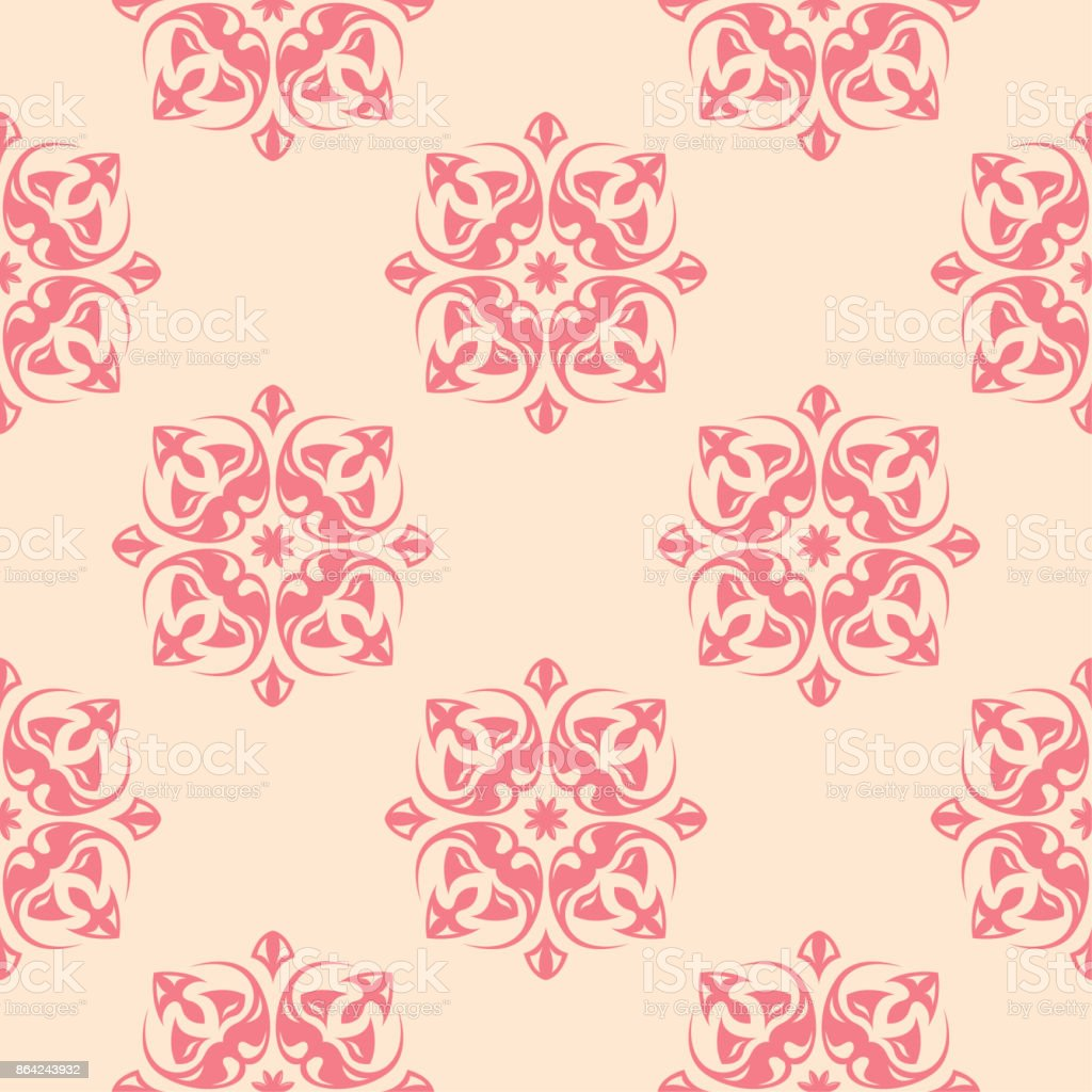 Red flowers on beige background. Seamless pattern royalty-free red flowers on beige background seamless pattern stock vector art & more images of abstract