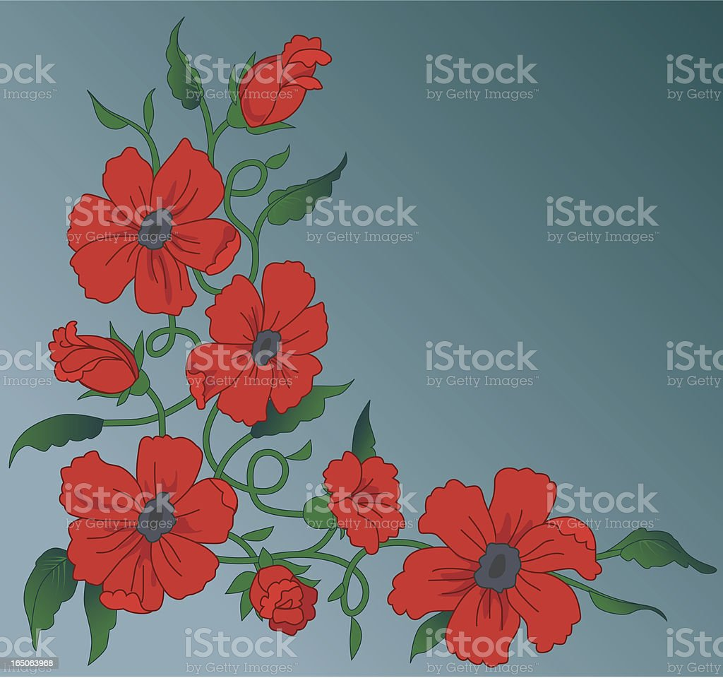 Red flowers royalty-free red flowers stock vector art & more images of art and craft