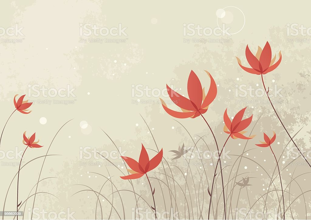 Red flowers royalty-free red flowers stock vector art & more images of backgrounds