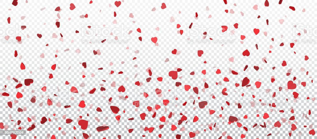 Red flying heart confetti valentines day background design element red flying heart confetti valentines day background design element for romantic love greeting card m4hsunfo