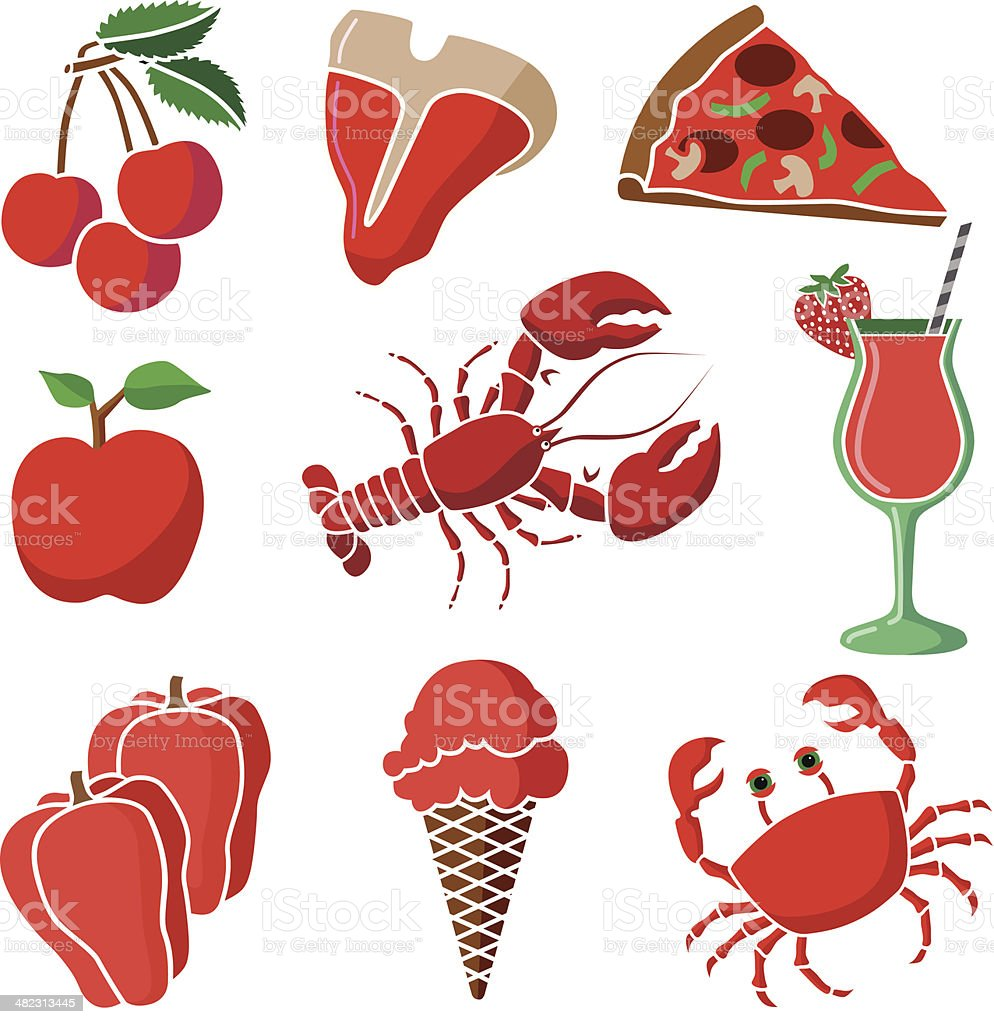 red food royalty-free stock vector art