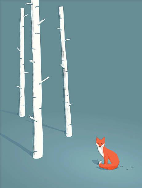 レッドフォックスの森 - キツネ点のイラスト素材/クリップアート素材/マンガ素材/アイコン素材