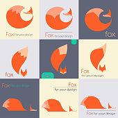 Red fox logo vector