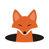 istock red fox on the cave,watching, vector illustration 689213498