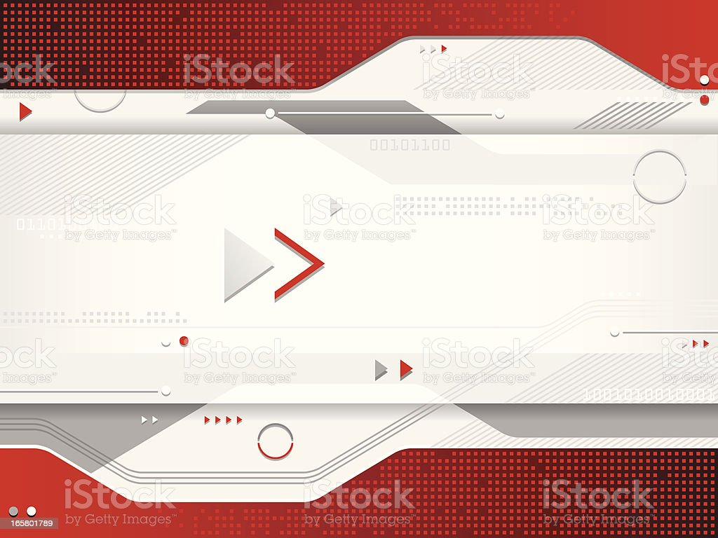Red Futuristic Background royalty-free stock vector art