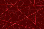 Random chaotic lines abstract geometric pattern, Red geometric pattern