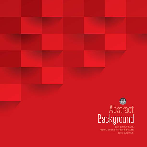 Red geometric vector background. vector art illustration