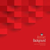 Red geometric vector background.