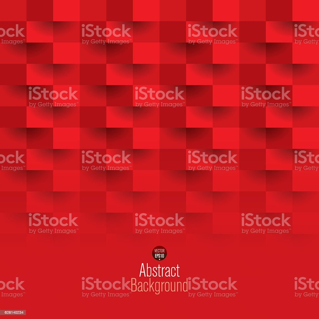 Red geometric vector background. vector art illustration