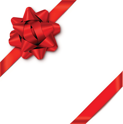 Red Gift Bow With Ribbons Stock Illustration - Download Image Now