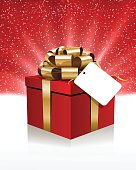 Red Gift Box. EPS 10 file.