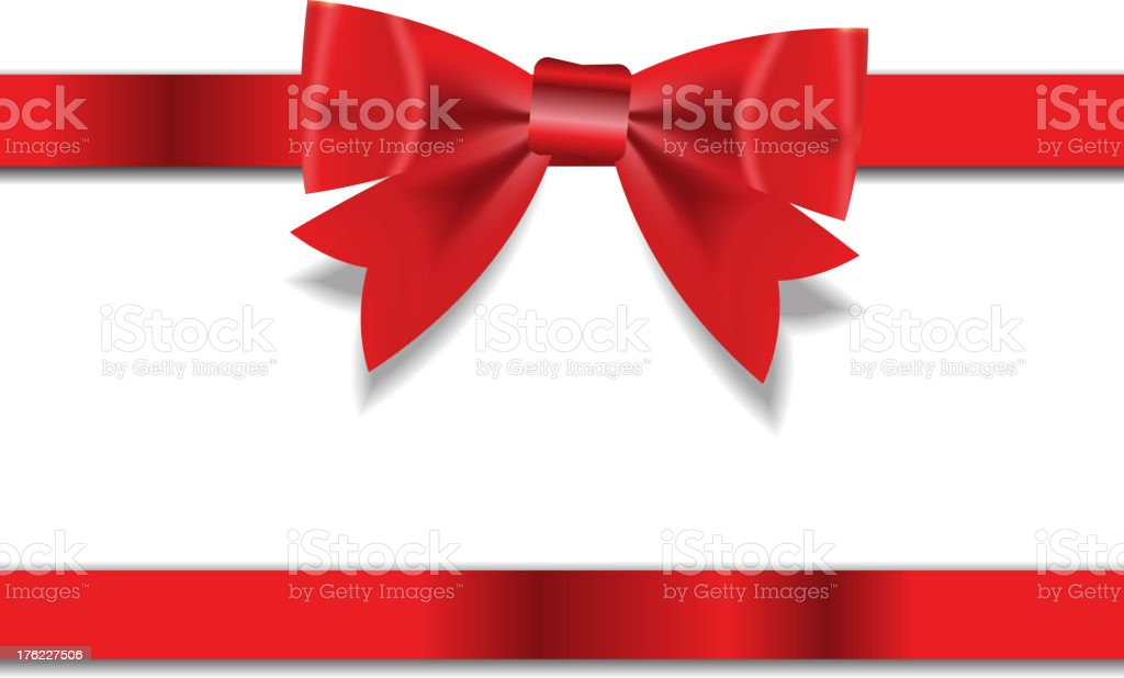 Red Gift Ribbon . Vector illustration vector art illustration