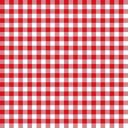Red Gingham Cloth Fabric Pattern