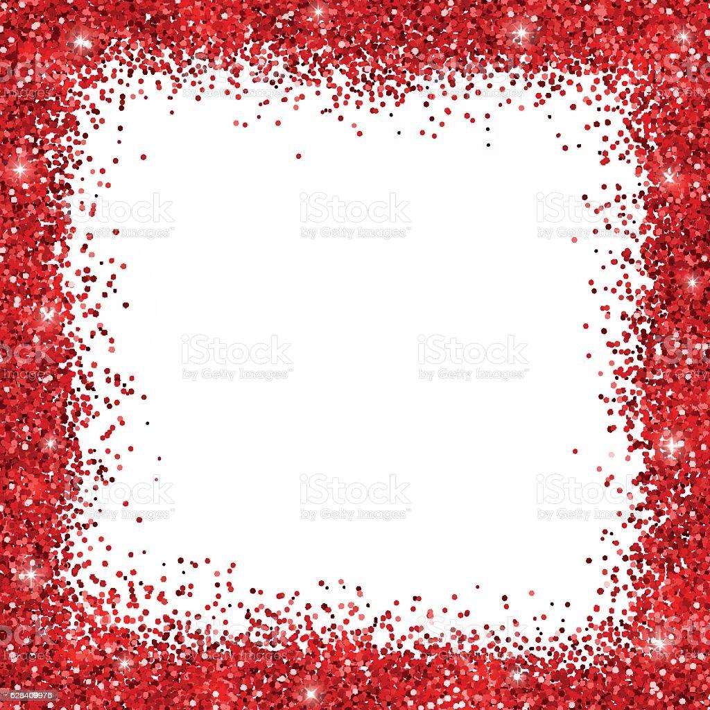 Red Glitter Border Frame Vektor Illustration 628409976 | iStock