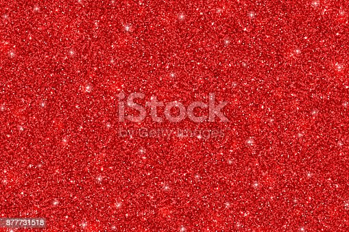 istock Red glittering holiday texture 877731518