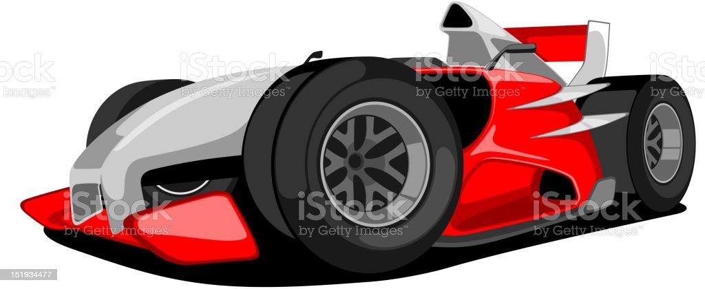 Red Grand Prix Car. vector art illustration
