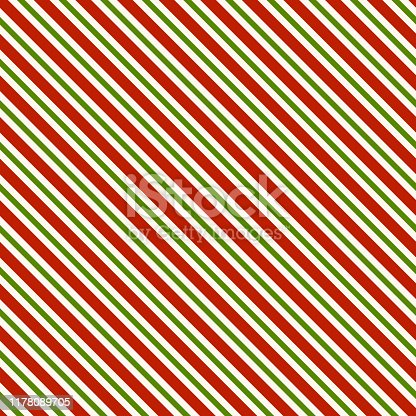 Red green and white diagonal lines - seamless pattern background