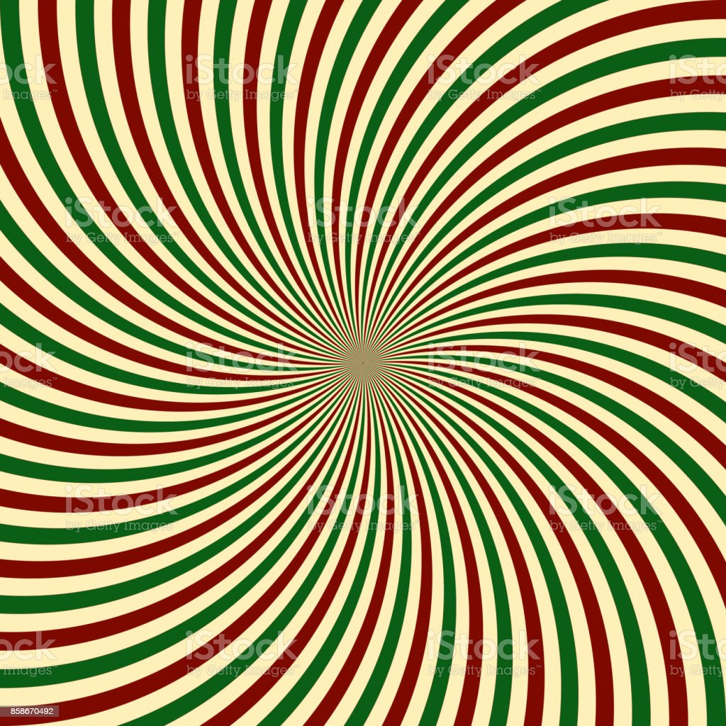 Red Green White Sunbeam Background Striped Candy Cane Abstract