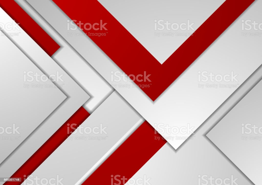 Red grey tech corporate material background vector art illustration