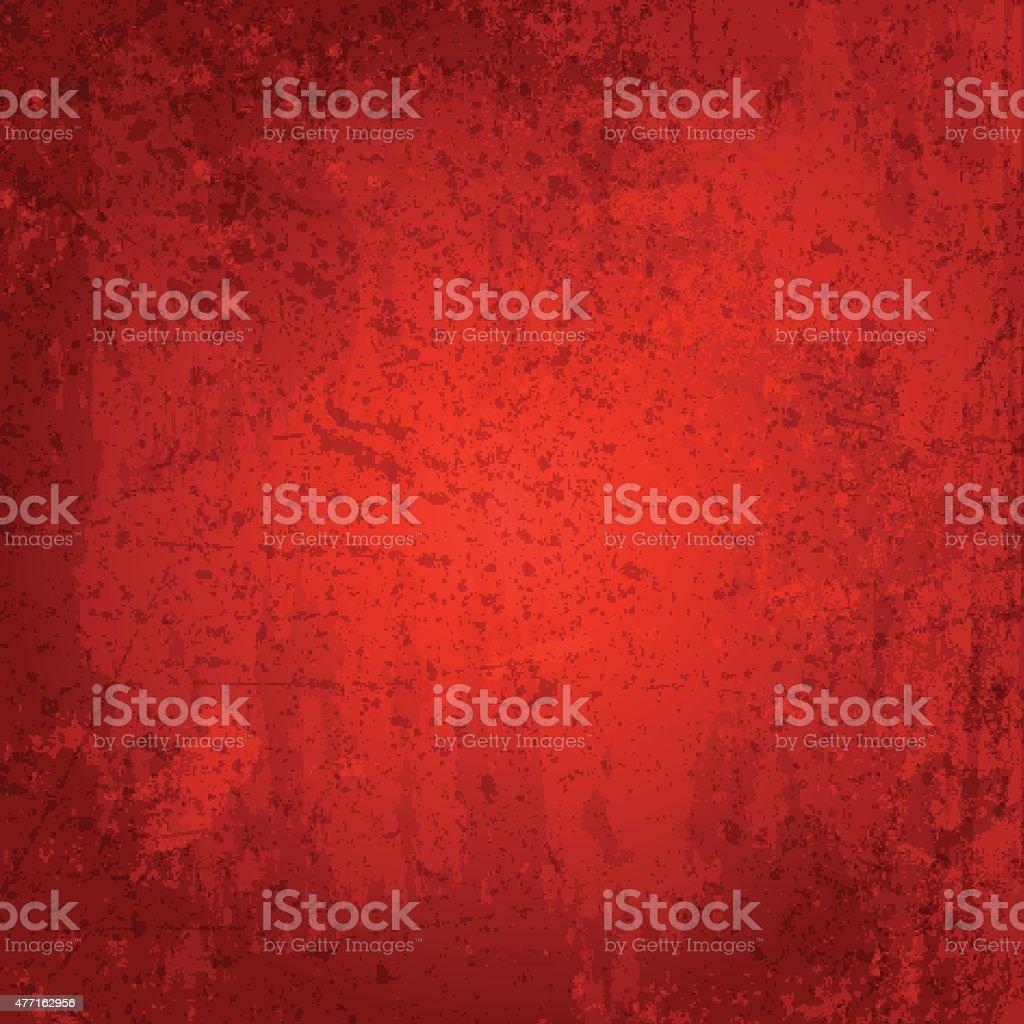Red grunge background vector art illustration