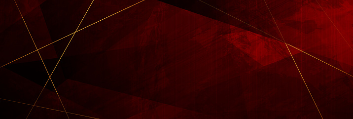 Red grunge corporate abstract background with golden lines