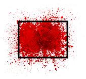 red paint splatter vector frame design background