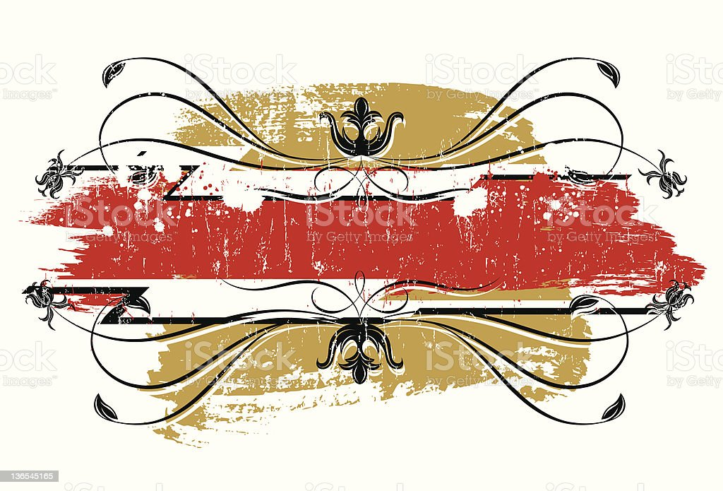 Red grunge tag royalty-free stock vector art